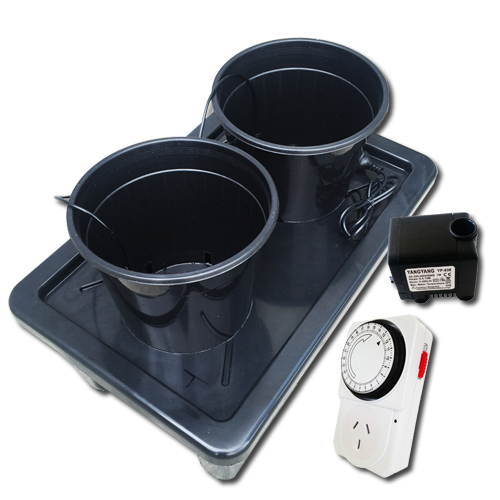 2 pots auto watering hydroponics system
